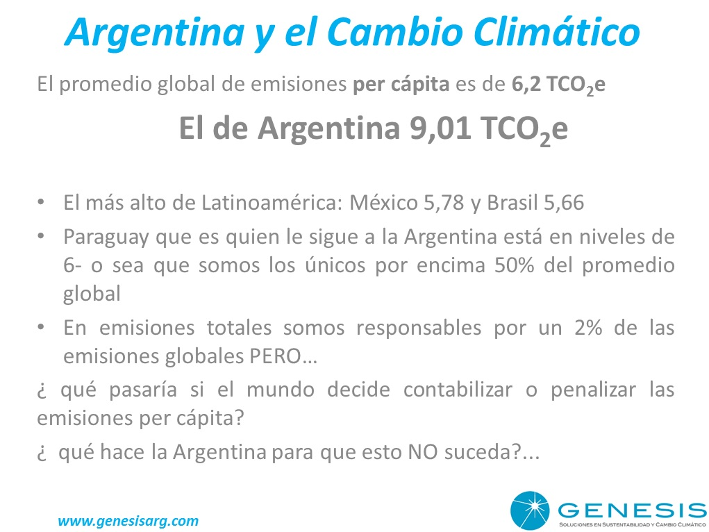 Argentina y el Cambio Climático
