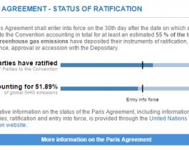 Paris Agreement 3 oct 2016