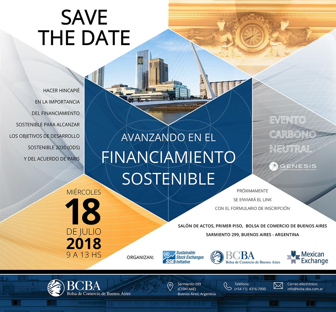 GENESIS organizando evento en FINANCIAMIENTO SOSTENIBLE en la BCBA